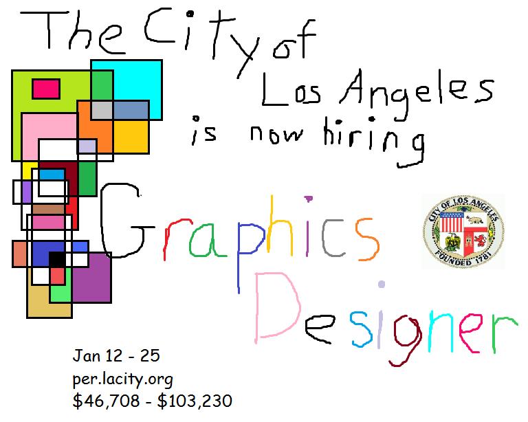 Offre d'emploi : graphic designer pour la ville de Los Angeles