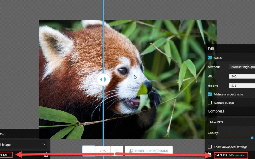 Nouvel outil d'optimisation d'images, par Google