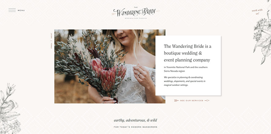 exemple site Divi mariage